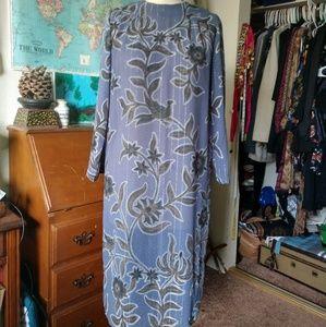 VINTAGE Sheer long sleeve Maxi Dress